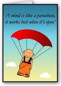 Paraquedas de Buda - mente aberta