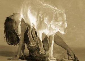 woman & wolf